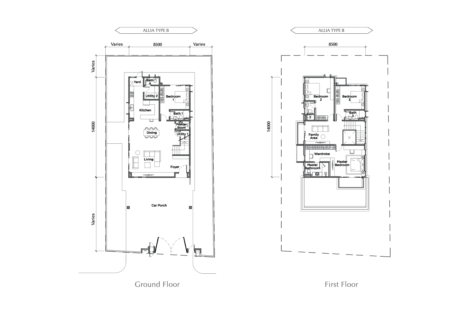 ALLIA FLOOR PLAN TYPE B