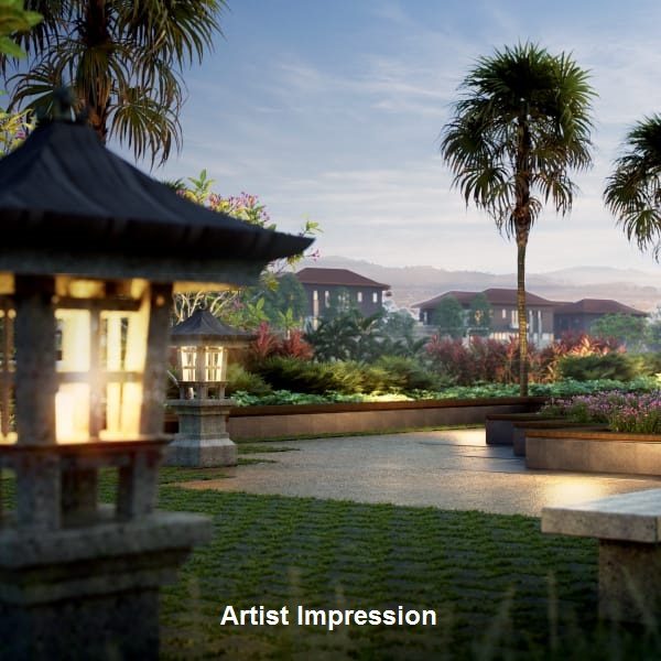 LOW-DENSITY - Only 165 Bungalows and Semi-Ds with unmatched vistas of Broga Hills.