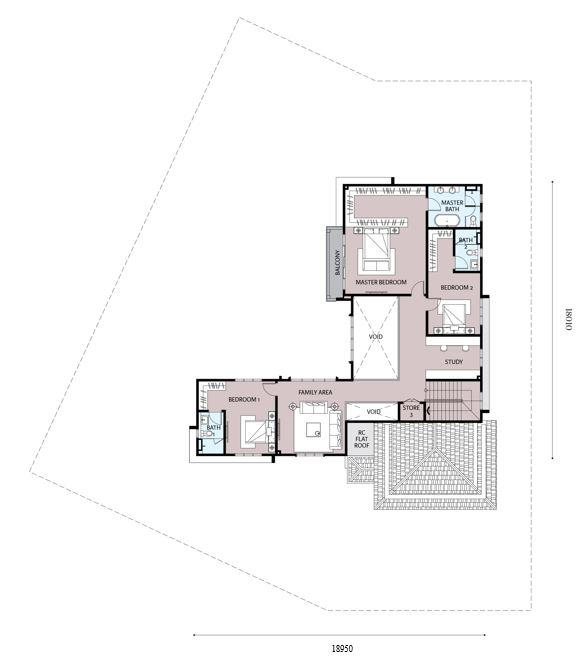 Emilia 1 Floor Plan (First Floor)