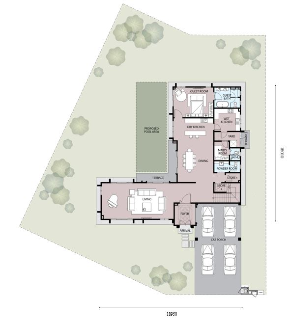 Emilia 1 Floor Plan (Ground Floor)